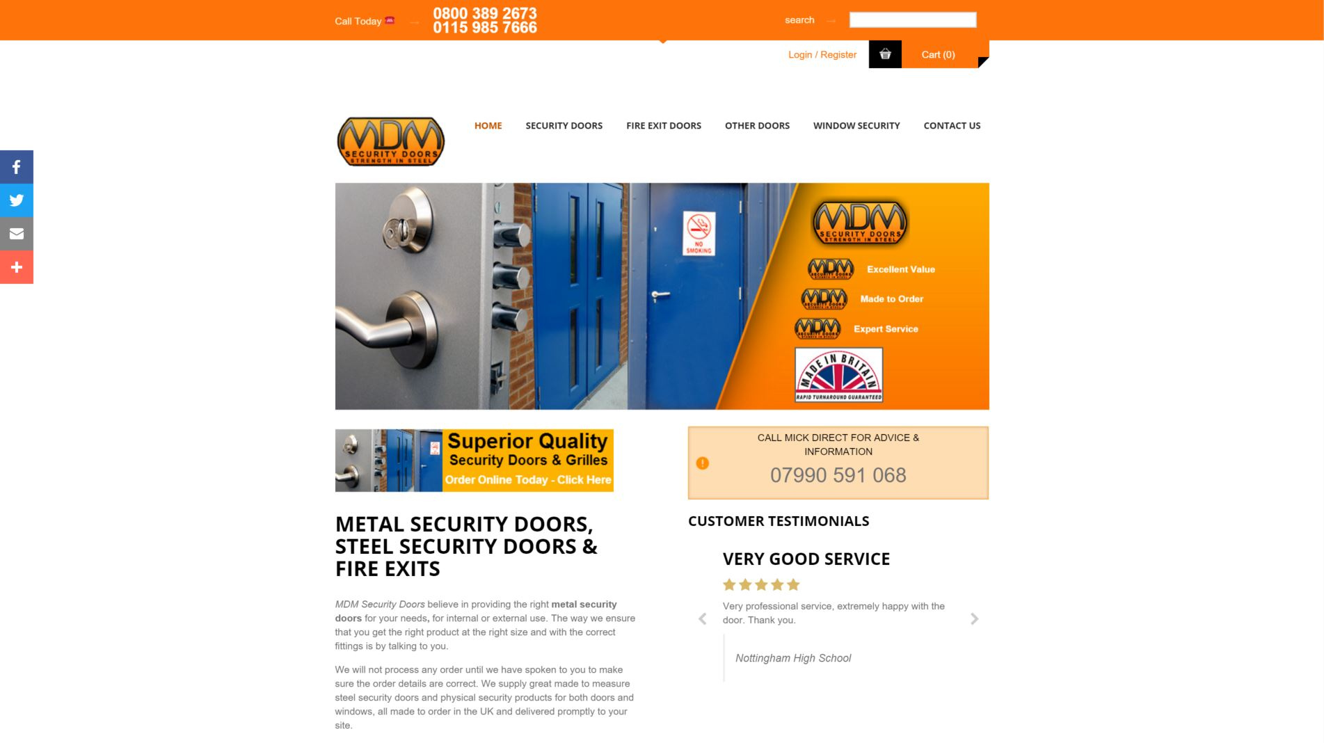 Case Study - MDM Security Doors